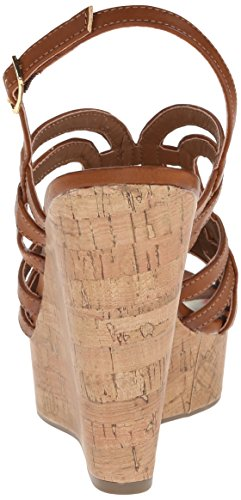 887865300243 - Madden Girl Women's Eliite Wedge Sandal, Cognac Paris, 10 M US carousel main 1