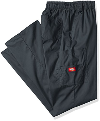 ll EDS Signature Zip Fly Pull-On Scrub Pant, Pewter, X-Large ()