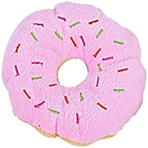 Dog Toy, donut Shape Plush Squeaky Giggle Toys Dog Toys to Bite Anytime for Exercise Entertainment Boredom for Small to Medium Dogs Pet Friend- Best Christmas Birthday Gift for Puppy