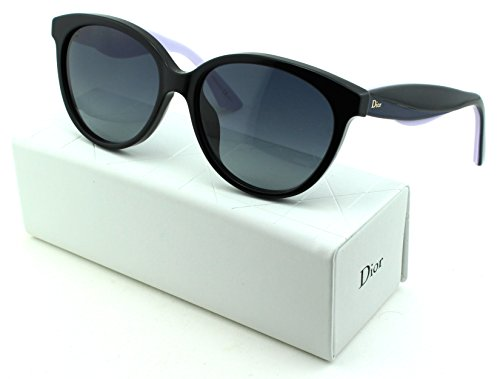 Dior Envol 3 Round Women Sunglasses (Black Blue Lilac Frame, Grey Gradient Lens - Dior Lady Sunglasses