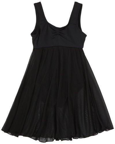 Capezio Little Girls' Empire Dress Leotard,Black,S (4-6)