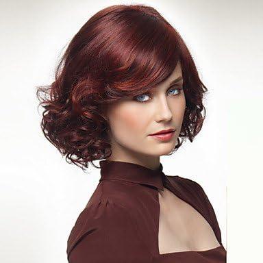 GSP-las pelucas vino moda europea y americana de color rojo ...