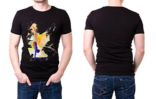 Turnen_IX schwarzes modernes Herren T-Shirt mit stylischen Aufdruck