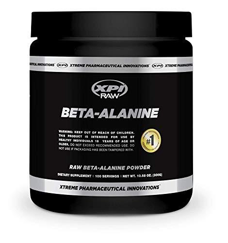 XPI Raw Beta Alanine Powder 300 Grams, 100 Servings - Made in The USA, Non-GMO