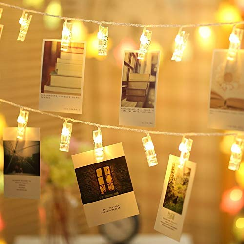 Quace 10 Pcs Photo Clips String Light Battery Powered(Not Included)