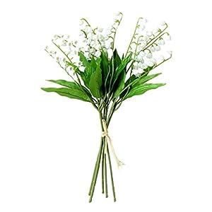 6PCS Artificial Lily of The Valley Flowers Arrangement Bundle for Wedding Bouquet Home Decor Garden Decoration White Wedding Artificial Flowers 21