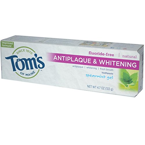 Antiplaque and Whitening Toothpaste Spearmint Gel 4.70 Ounces (Case of 6) ()