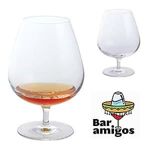 Bar Amigos® Everyday Classic Essentials Brandy Balloon Glasses copas de Brandy |snifter copas de coñac y de | cristal sin plomo | lavavajilla | 610ml–juego de 2