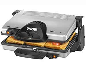 Unold Contact Grill, Negro, Plata, AC 230 V, 50 Hz, 323 x 140 x 385 mm - Parrilla