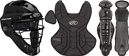 (Rawlings Sporting Goods 9-12 Catcher Set Players Series, Black)