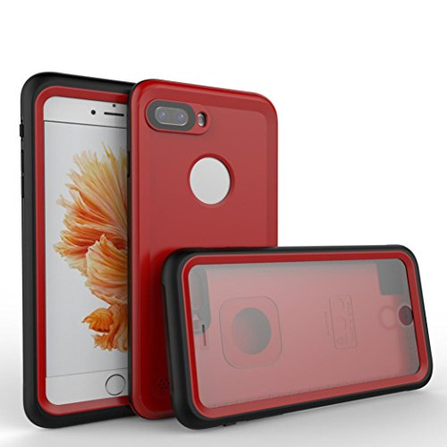 Apple Bongos - For iPhone 8 Plus [5.5 Inch ], Apple iphone 8 Plus Waterproof Protective Case Cover Snowproof Dirtproof Shockproof For iPhone 8 Plus Cell Phone (red)
