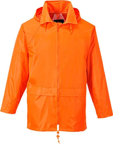 Portwest US440ORRXL Classic Rain Jacket, Fabric, XL, Orange