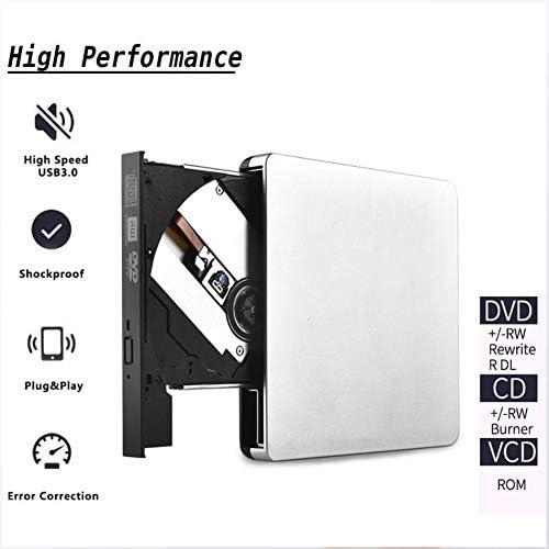 DVDドライブ USB 3.0バーナーポータブルプレーヤーオプティカルCD-RW DVDドライブレコーダー外部リーダー YYFJP