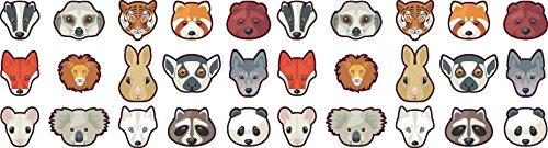 StickerTalk [30X] Animal Camera Dots Webcam Lens And LED Light Cover Privacy Sticker