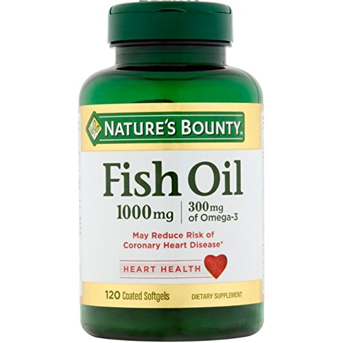 Nature's Bounty 300 mg Omega-3 Fish Oil 1000 mg Softgels 120 Coated Soft Gels ( Pack of 9) by Us Nutrition Inc