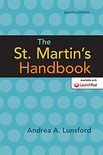 The St. Martin's Handbook cover