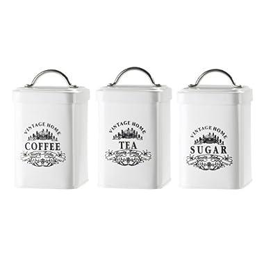 Amici Vintage Home Metal Jar - Set of 3