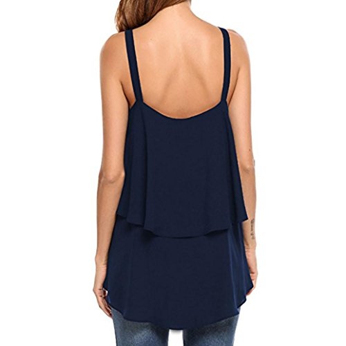 Chemisier Taille Sans Bretelle Robe Volant V Grande Shirt Tee Pour Manches Femmes Uni Femme Marine Blouse Angelof Col Debardeur A RqdgRwU