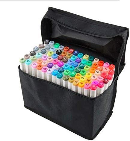 Chris.W - Estuche profesional para rotuladores (80 rotuladores, sin compartimentos interiores), color negro: Amazon.es: Amazon.es