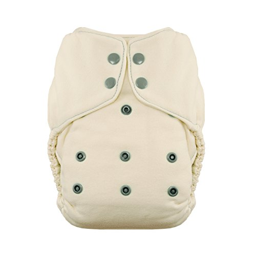 Thirsties Snap Natural One Size Bamboo Fitted Cloth Diaper, Fin -