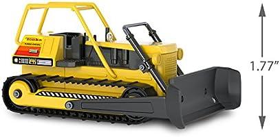 Tonka BULLDOZER Construction Yellow Black CHRISTMS TREE ORNAMENT xmas
