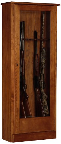 American Furniture Classics 724-10 10 Gun Cabinet, Medium Brown