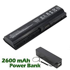 Battpit Bateria de repuesto para portátiles HP TouchSmart tm2-1050ef (4400 mah) con 2600mAh Banco de energía / batería externa (negro) para Smartphone