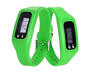 Latest Trend Children Fitbit Style Activity Tracker - Cool Kids Pedometer  Step Counter Wristwatch (Green)