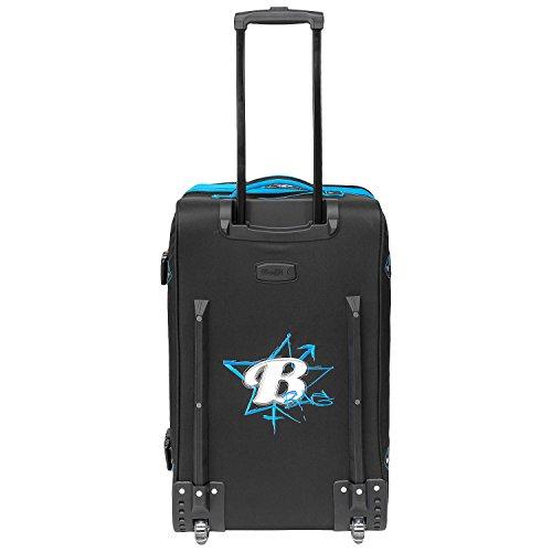 BoGi Bag Reisetasche Rollkoffer Reisekoffer Deutschland Koffer, 72 cm, 85 L, Schwarz/Rot/Gold Blau Schwarz