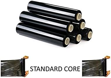 BLACK  PALLET STRETCH SHRINK WRAP CAST PARCEL PACKING FILMS STANDARD CORE