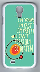 Samsung Galaxy S4 Cases and Covers- I'm Young Customize PC Case for Samsung Galaxy S4 / I9500 White