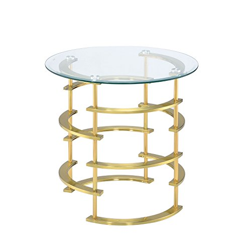HOMES: Inside + Out IDF-4359GL-E Natalie End Table, Gold