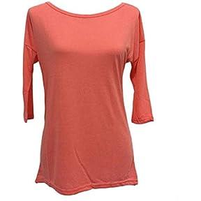 Women Blouse,Kaifongfu Loose Pullover T Shirt Three Quarter Tops Shirt