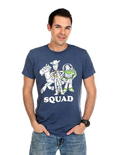 Fifth Sun Men's Disney Toy Story Squad T-Shirt (Medium, Navy Heather) (Toy Story Shirts)