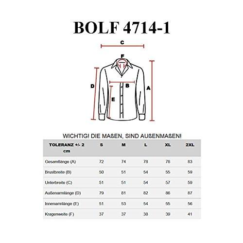 Casual 1 Maniche Lunghe 4714 Grigio Uomo Bolf Camicia 1 1703 ZFOBSx