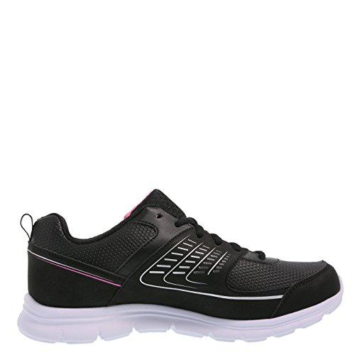 Cross Trekkers Dames Shuffle Sneaker Zwart Roze