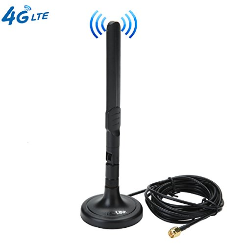 - 3G 4G LTE Antenna SMA Male Magnetic 3dBi GSM Antennas with Magnetic Sucker for Mobile Phone Signal Enhancer Repeater