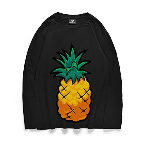 Gris T Mode À Pull Top Haut Tee Winjin Ananas shirt Cher Longues Fit Imprimé Rugby Shirt Slim La Homme Manches Sweatshirt Sweat Chemise Polo 2 Noir Pas Soldes Blouse RIn88qSF