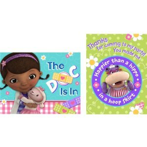 Disney Doc McStuffins Party Invitations & Thank Yous - 8 each per Pack -