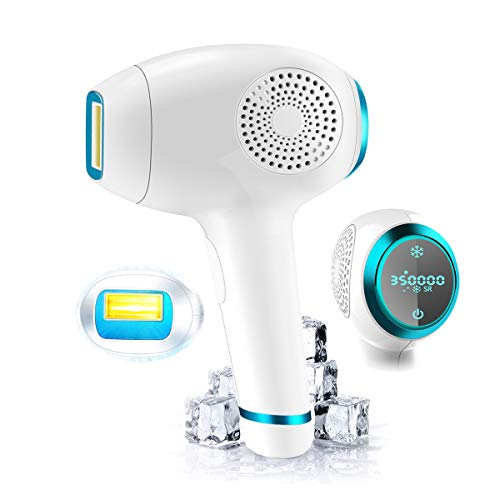 Permanent Hair Removal For Women & Men Painless WPL & ICE Cool & Beauty Integrated 350,000 Flashes Touch LCD Screen WholeBody Home Use(Wholebody Hair Removal) ()