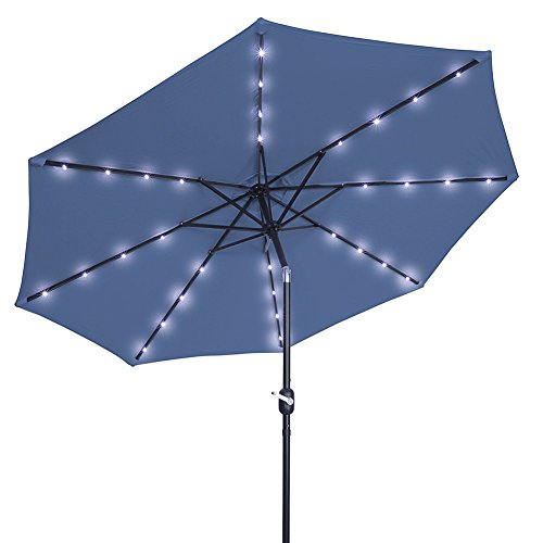 Light Blue Garden Parasol in US - 6