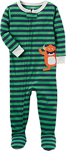 Carter's Boys' 12 Months-5T One Piece Monster Print Cotton Pajamas 18 Months