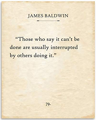 James Baldwin - Those Who Say - 11x14 Unframed Typography Book Page Print - Great Gift for Book Lovers, Also Makes a Great Gift Under $15