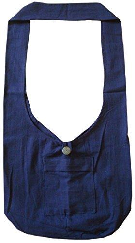 - Lofbaz Women's Buddhist Monk Cotton Crossbody Boho Bag Dark Blue