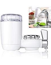 Cheelom Faucet Filtro de agua, Grifo de Filtro purificador de agua, dispositivo para el hogar de purificación, grifo de la cocina, con avanzado filtración de agua, Se adapta a los grifos estándar