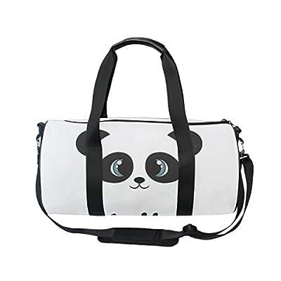 de25f20ffba0 Cooper girl Hello Panda Duffels Bag Travel Sport Gym Bag durable ...