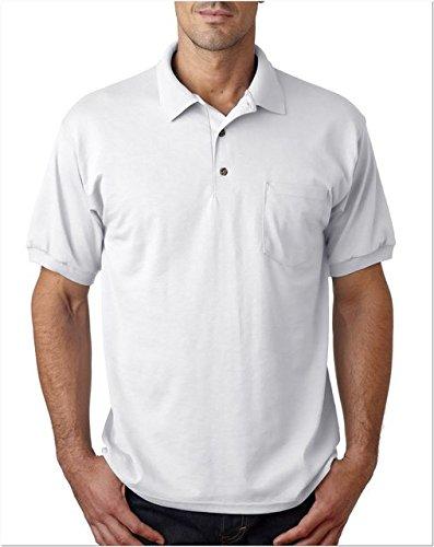 Gildan Men's Short Sleeve Polo Pocket Jersey - WHITE - ()