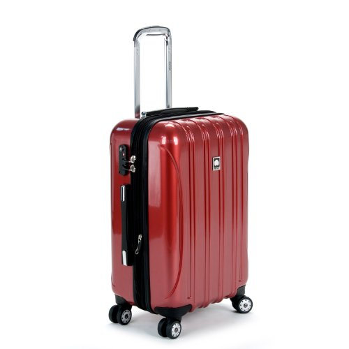 Delsey Luggage Helium Aero, Carry On Luggage, Hard Case Spinner Suitcase, Red