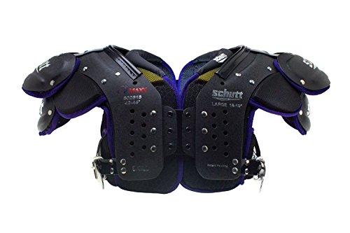 Schutt Sports Varsity O2 Maxx Skill Shoulder Pad, Black/Purple, Small (Pads Football Shoulder Skill)