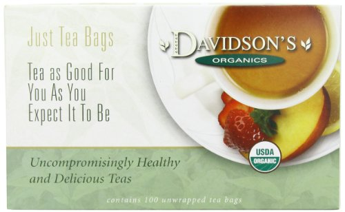 Rooibos Tea Bags (Davidson's Organic Tea South African Rooibos, 100-Count Tea Bags,)
